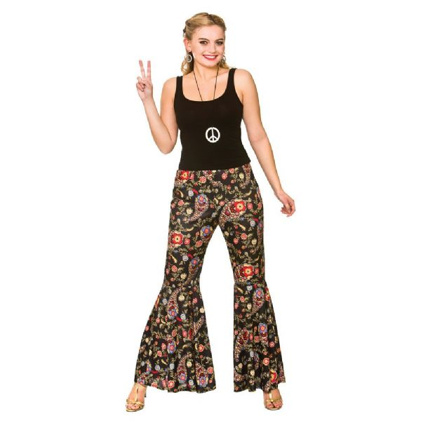 Adults Ladies Groovy Hippie Pants Costume for 60s 70s Hippie Mod Fancy Dress